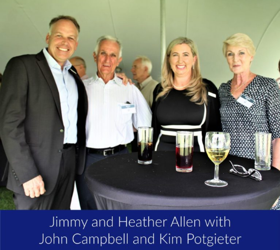 Jimmy and Heather Allen with John Campbell and Kim Potgieter of Chartered Wealth Solutions